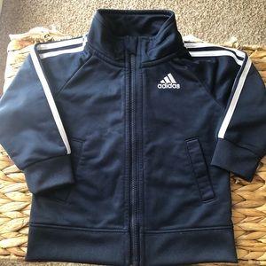 Adidas Navy/ White Striped Jacket